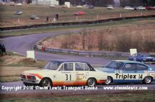 TRIUMPH DOLOMITE SPRINT (Barrie Williams)Leads Capri (Marshall).Photo. Oulton RAC Saloons March 1978